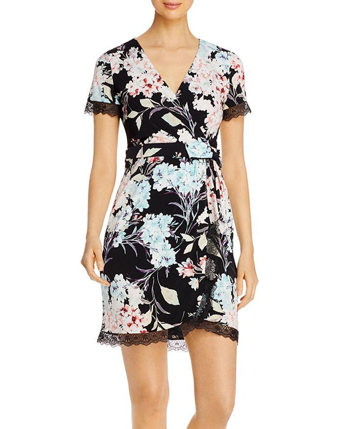 KARL LAGERFELD PARIS - Floral Print Wrap Dress