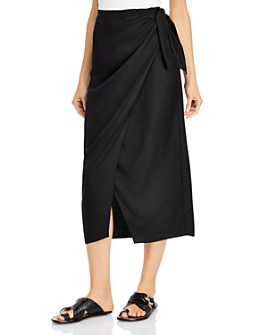 FRENCH CONNECTION - Gabina Draped Sarong Midi Skirt