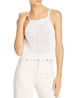 FRENCH CONNECTION - Nora Crochet Cotton Tank Top