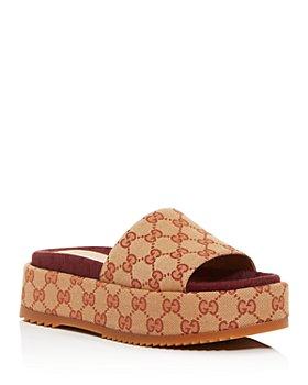 Gucci - Women's Angelina Platform Slide Sandals