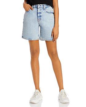 alexanderwang.t - Boy Mid-Rise Cotton Shorts