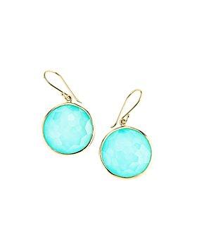 IPPOLITA - 18K Gold Lollipop® Turquoise Doublet Drop Earrings
