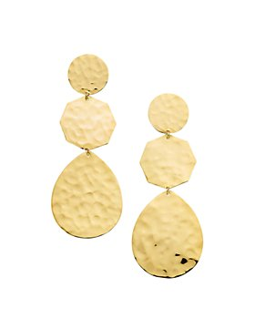 IPPOLITA - 18K Yellow Gold Classico Crinkle Hammered Crazy 8's Drop Earrings