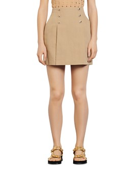 Sandro - Parisa Linen Mini Skirt