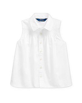 Ralph Lauren - Girls' Cotton Smocked Broadcloth Shirt - Little Kid