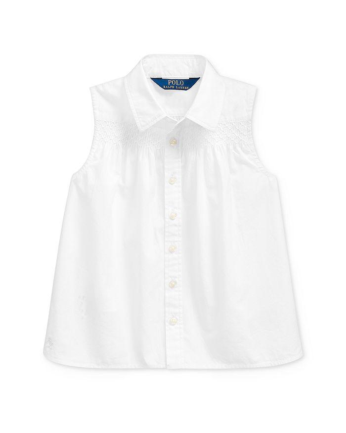 Ralph Lauren - Girls' Cotton Smocked Broadcloth Shirt - Little Kid
