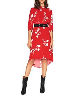 ba&sh - Poema Floral-Print High/Low Dress