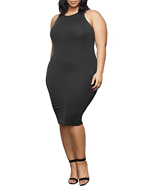 Good American Ribbed Bodycon Dress-Women