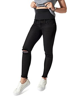BLANQI - Cotton Ripped Skinny Maternity Jeans