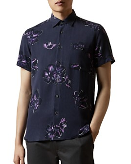 Ted Baker - MMA Balty Bold Flower Print Short Sleeve Button Down Shirt - 100% Exclusive