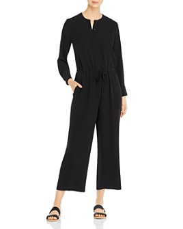 Eileen Fisher - Silk Drawstring-Waist Jumpsuit