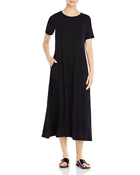 Eileen Fisher Petites - Crewneck Midi Dress
