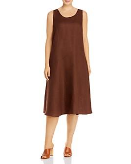 Eileen Fisher Plus - Organic Linen Scoop Neck Dress