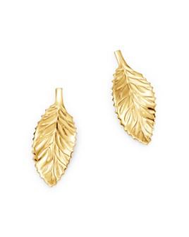 Bloomingdale's - Curved Leaf Stud Earrings in 14K Yellow Gold - 100% Exclusive