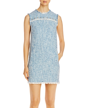 Escada Sport Damika Tweed Frayed Trim Dress