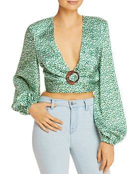Significant Other - Iris Printed Open-Back Top
