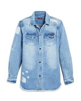 7 For All Mankind - Boys' Long Sleeve Denim Jacket - Big Kid
