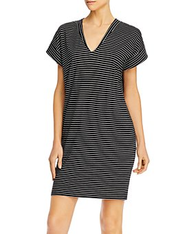FRAME - Le V Striped Mini Dress