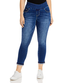 JAG Jeans Plus - Amelia Ankle Jeans With Cuffed Hems in Kodiak Blue