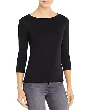 Three Dots - Three-Quarter-Sleeve Cotton Tee