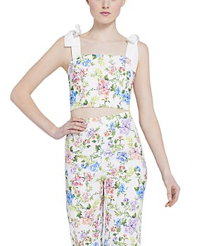 Alice and Olivia - Nika Floral-Print Sleeveless Crop Top