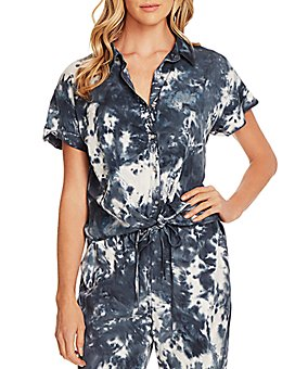 VINCE CAMUTO - Tie-Dyed Short-Sleeve Shirt