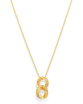 "Bloomingdale's - Diamond Interlocking Ring Pendant Necklace in 14K Yellow Gold 15-17"", 0.25 ct. t.w. - 100% Exclusive"