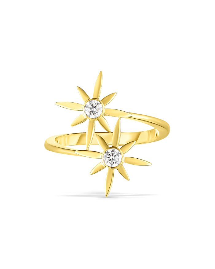 Roberto Coin - 18K Yellow Gold Disney Cinderella Diamond Wand Bypass Ring
