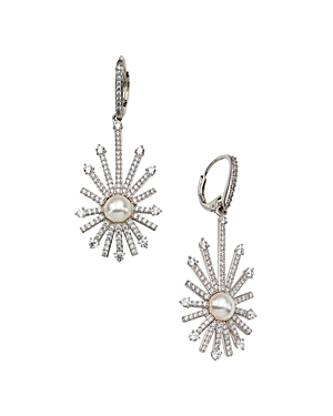 Nadi Ambrosia Cubic Zirconia & Imitation Pearl Starburst Drop Earrings-Jewelry & Accessories