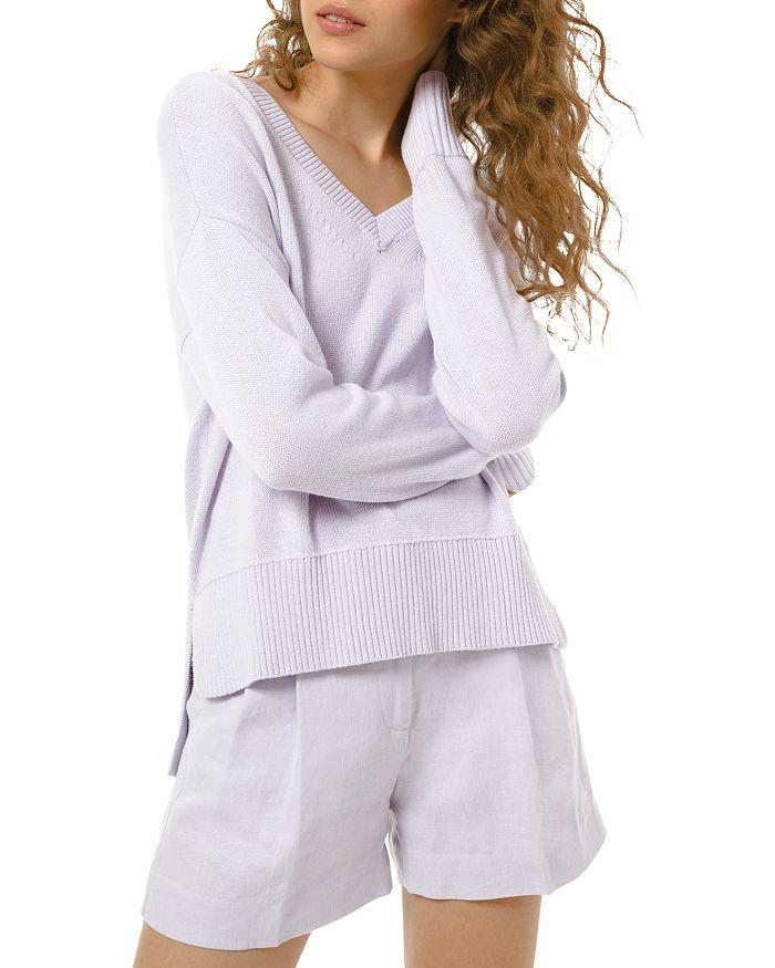 MICHAEL Michael Kors - V-Neck Cotton & Cashmere Sweater
