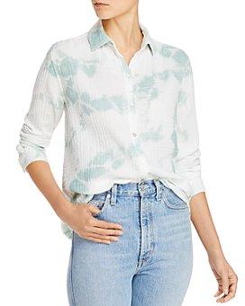BeachLunchLounge - James Tie-Dyed Puckered Gauze Shirt