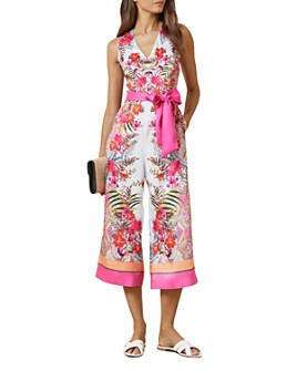 Ted Baker - Solana Printed Cropped Jumpsuit