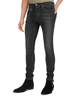 The Kooples - Slim-Fit Black Jeans With Chain