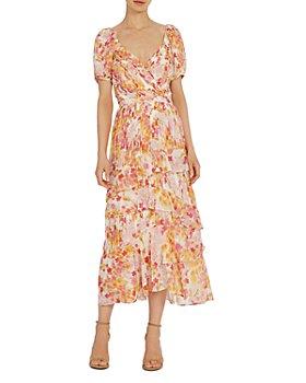ML Monique Lhuillier - Printed Pleated Dresses