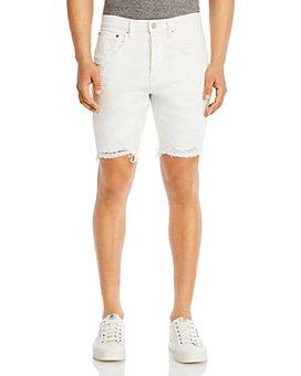 Purple Brand - Slim Fit Shorts in White Stripe