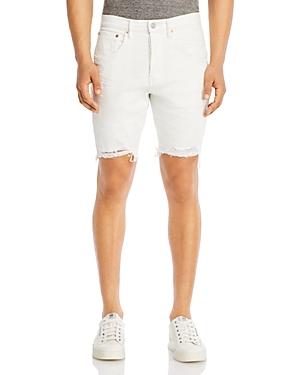 Purple Brand Slim Fit Shorts in White Stripe