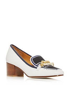 Tory Burch - Women's Jessa Apron-Toe Block-Heel Pumps