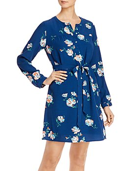 Daniel Rainn - Floral Print Tie-Waist Dress