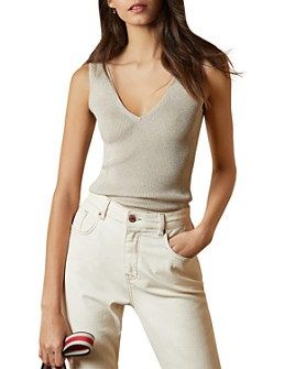Ted Baker - Niyalia Ribbed V-Neck Tank Top