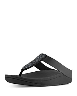 FitFlop - Women's Sparklie Crystal Strappy Wedge Sandals