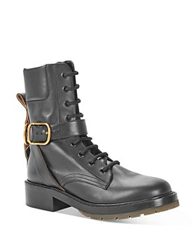 Chloé - Women's Diane Lace Up Combat Booties