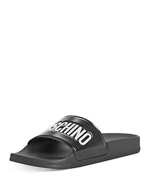 Moschino Women\\\'s Logo Pool Slide Sandals