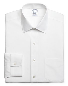 Brooks Brothers - Solid Stretch Regular Fit Dress Shirt