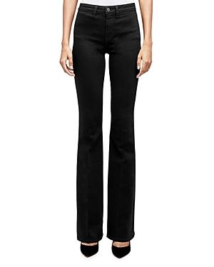 L'Agence Joplin High-Rise Flare Jeans in Noir