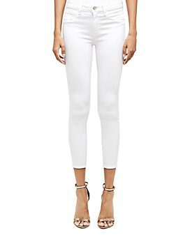 L'AGENCE - Luciana High-Rise Back-Zip Skinny Jeans