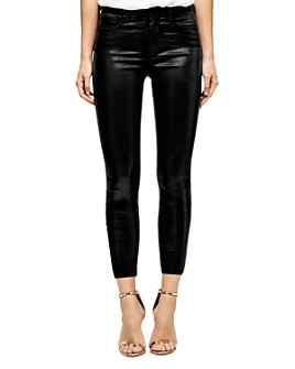 L'AGENCE - Margot Skinny Jeans in Black Coated
