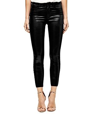 L\\\'Agence Margot Skinny Jeans in Black Coated-Women
