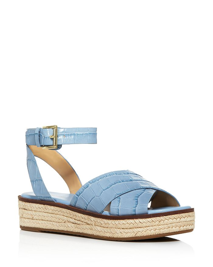 MICHAEL Michael Kors - Women's Abbott Croc-Embossed Espadrille Sandals