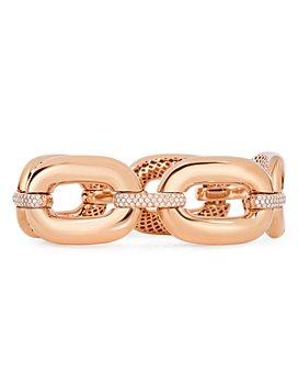 Roberto Coin - 18K Rose Gold Diamond Link Bracelet