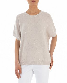 Peserico - Short-Sleeve Knitted Sweater